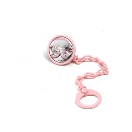 pinza chupete zapatito rosa