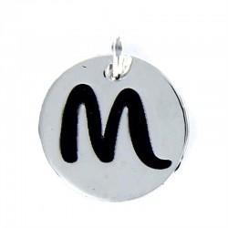 colgante disco letra m
