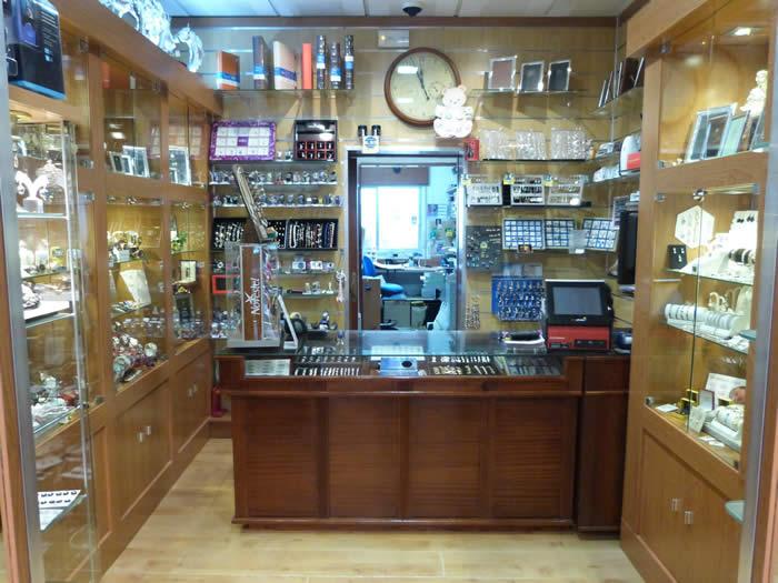 Vista interior de Relojería Campos