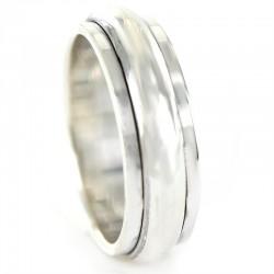 anillo de caballero de plata