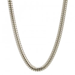 Cadena de plata cola de topo de 3 mm de grosor