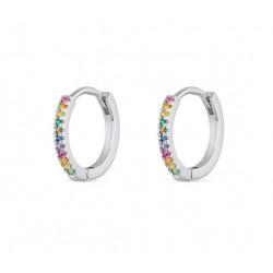aro de plata multicolor 14 mm