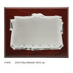 placa 23x19 plat. 16x12 mader.